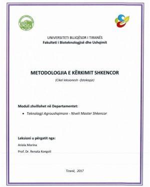 metodologjia e kerkimit shkencor -ariola morina, renata kongoli