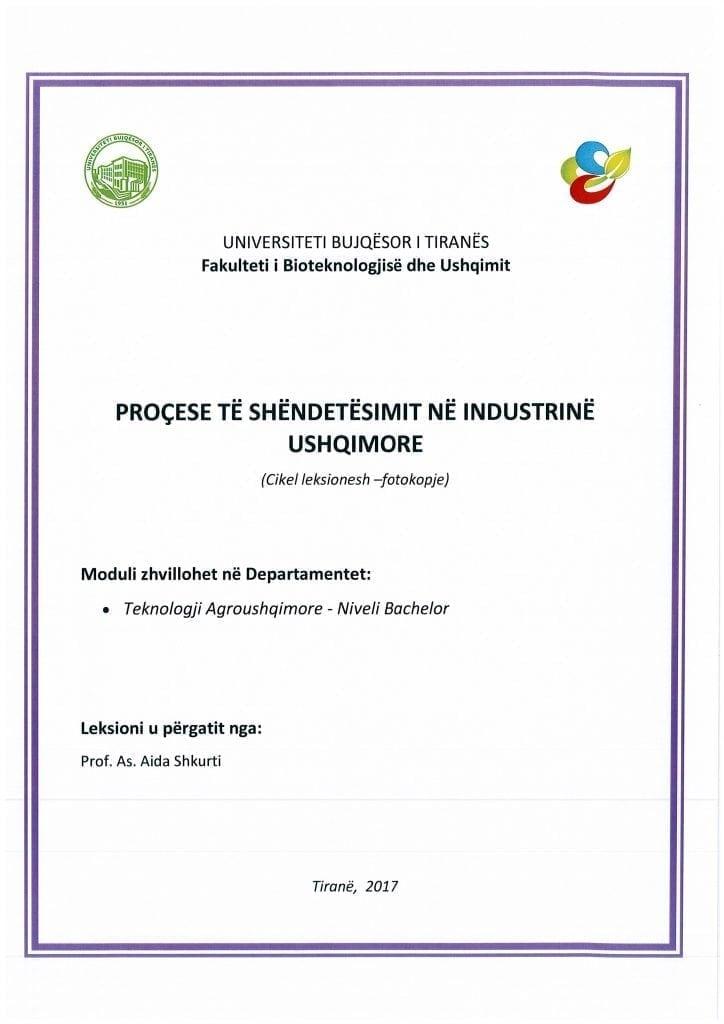 procese te shendetesimit ne industrine ushqimore -aida shkurti