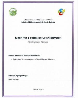 mbrojtja produkteve ushqimore -erjon mamoci