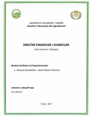 drejtim financiar i avancuar -fran brahimi