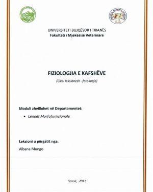 Fiziologjia e Kafsheve -Albana Munga