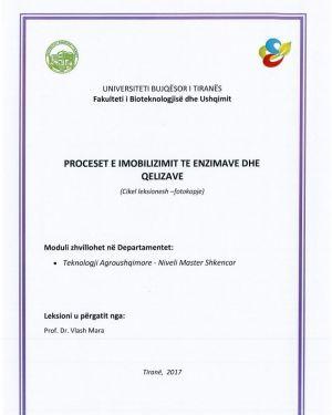 Proceset e Imobilizimit te Enzimave dhe Qelizave -Vlash Mara