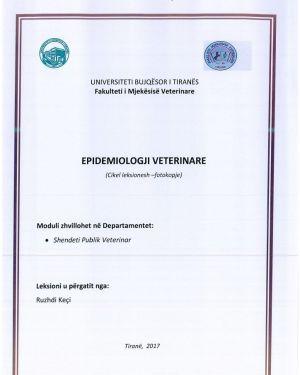 Epidemiologji Veterinare -Ruzhdi Keçi