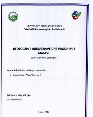 reologjia e brumerave dhe prodhimi i majave – dr. alketa shehaj