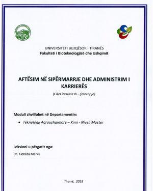 aftesim ne sipermarrje & administrim i karrieres – dr. klotilda marku
