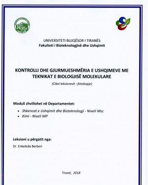 kontrolli & gjurmueshmeria e ushqimeve me teknikat e biologjise molekulare – dr. enkeleda berberi