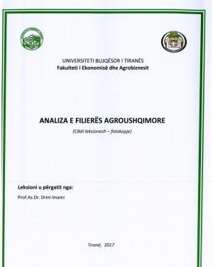 analiza e filieres agroushqimore – prof.as.dr drini imami