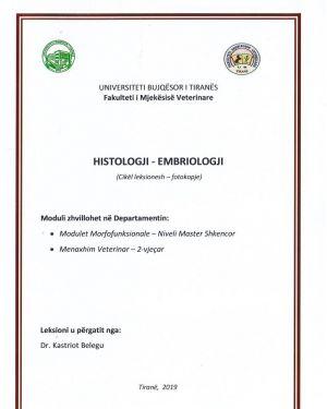 Histologji & Embriologji – Dr. Kastriot Belegu